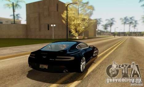 Aston Martin V12 Vantage для GTA San Andreas вид слева