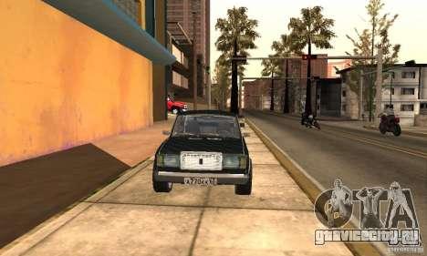 ВАЗ 2107 Turbo для GTA San Andreas вид справа