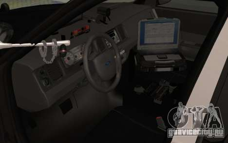 Ford Crown Victoria Police Interceptor LSPD для GTA San Andreas вид сзади