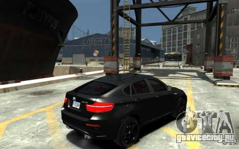 BMW X6 M для GTA 4 вид справа
