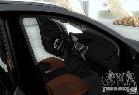 Hyundai ix35 для GTA San Andreas салон