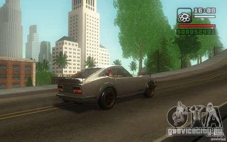 Datsun 240ZG для GTA San Andreas вид изнутри