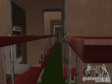 Пассажирский вагон РЖД для GTA San Andreas вид справа