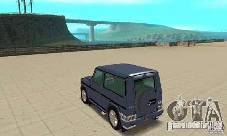 Mercedes-Benz G500 1999 Short [with kangoo v2] для GTA San Andreas вид сзади слева