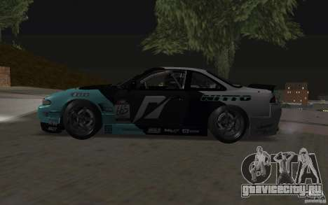 Nissan S14 Matt Powers 2012 для GTA San Andreas вид изнутри