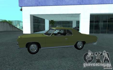 Chevrolet Impala 1971 для GTA San Andreas вид справа