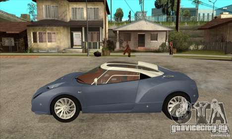 Spyker C12 Zagato для GTA San Andreas вид слева