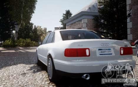 Audi A8 2000 для GTA 4 вид сзади