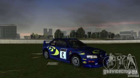 Subaru Impreza 22B Rally Edition для GTA Vice City вид сзади