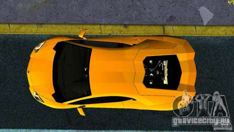 Lamborghini Aventador LP 700-4 для GTA Vice City вид сзади