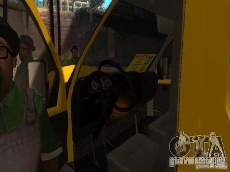 ГАЗель 2705 маршрутное такси для GTA San Andreas вид сзади