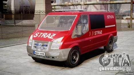 Ford Transit Polish Firetruck [ELS] для GTA 4