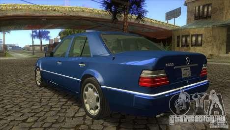 Mersedes-Benz E500 для GTA San Andreas вид сзади