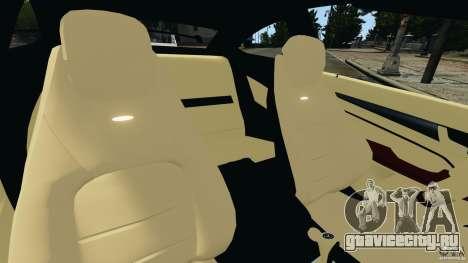Mercedes-Benz C63 AMG 2012 для GTA 4 вид изнутри