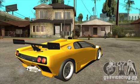 Lamborghini Diablo GT-R 1999 для GTA San Andreas вид справа