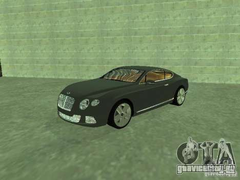 Bentley Continental GT 2010 V1.0 для GTA San Andreas