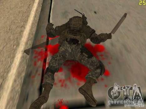 Боевой солдат из CoD:Mw2 для GTA San Andreas пятый скриншот