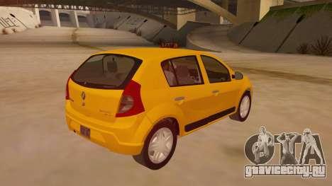 Renault Sandero Taxi для GTA San Andreas вид справа