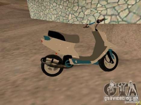 MBK Booster для GTA San Andreas вид сзади слева