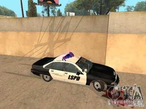 Chevrolet Caprice 1991 LSPD для GTA San Andreas вид слева