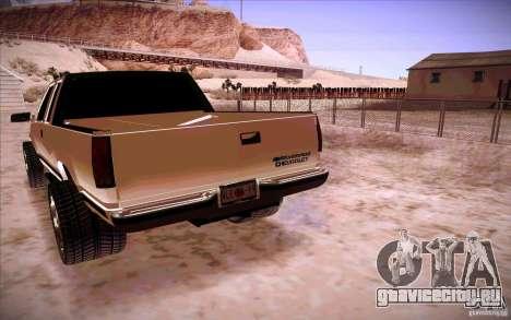 Chevrolet Silverado 3500 для GTA San Andreas вид сзади слева