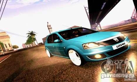 Dacia Logan 2008 для GTA San Andreas вид сверху