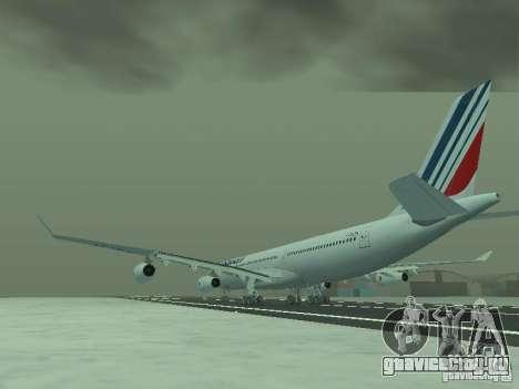Airbus A340-300 Air France для GTA San Andreas вид сзади слева