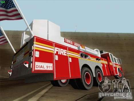 Seagrave Marauder. F.D.N.Y. Tower Ladder 186 для GTA San Andreas двигатель