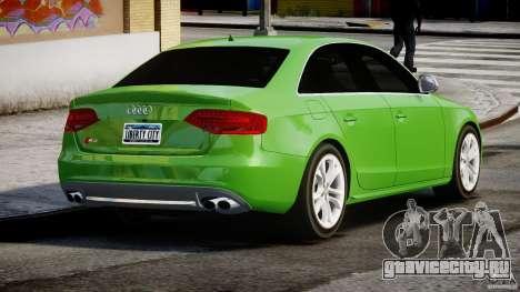 Audi S4 2010 v1.0 для GTA 4 вид сбоку