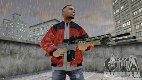 RSASS из MW3 (снайперка) для GTA 4 второй скриншот