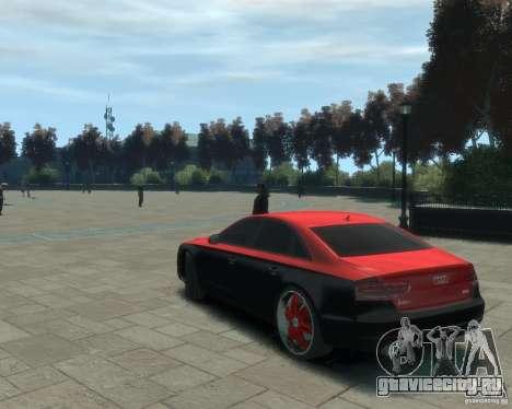 Audi A8 tuning для GTA 4 вид слева