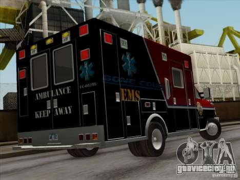 Ford E-350 AMR. Bone County Ambulance для GTA San Andreas вид сбоку