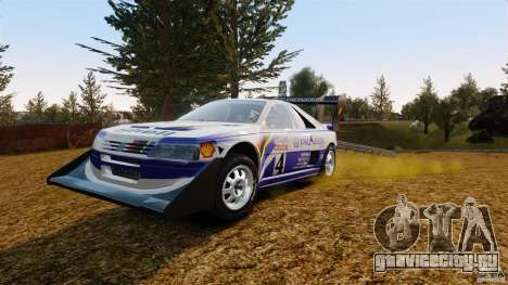 Peugeot 405 T16 Pikes Peak для GTA 4 вид сзади