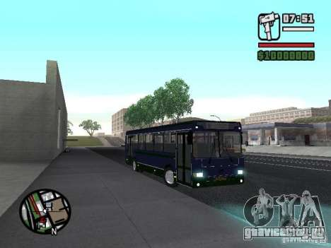 ЛиАЗ 5256.25-II для GTA San Andreas вид изнутри