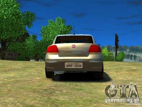 Fiat Linea для GTA 4 вид сзади слева