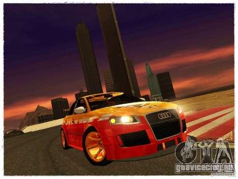 Audi RS4 Calibri-Ace для GTA San Andreas вид сзади слева