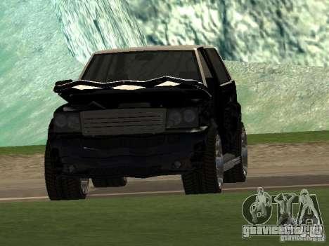 Huntley из GTA IV для GTA San Andreas вид изнутри