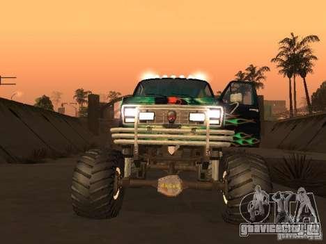 Ford Grave Digger для GTA San Andreas вид сзади слева
