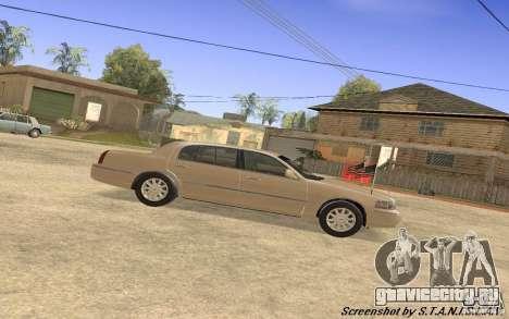 Lincoln Towncar Secret Service для GTA San Andreas вид сзади слева