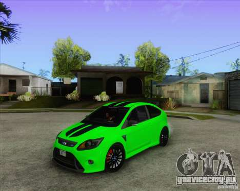 Ford Focus RS для GTA San Andreas вид изнутри