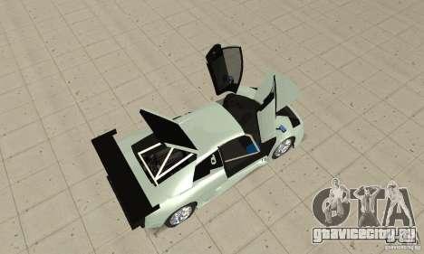 Lamborghini Murcielago R GT для GTA San Andreas вид сзади