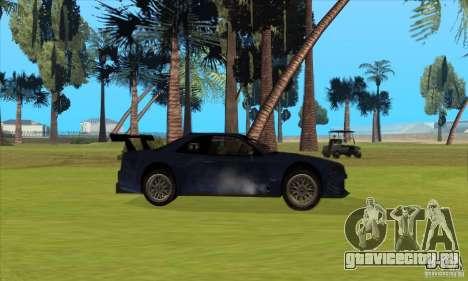 Nissan Skyline R34 GT-R LM для GTA San Andreas вид снизу