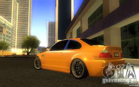 BMW M3 E46 V.I.P для GTA San Andreas вид сверху