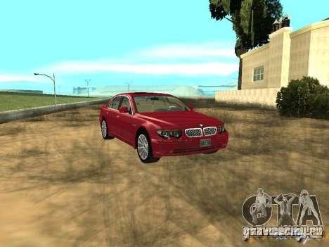 BMW 760I 2002 для GTA San Andreas вид сзади