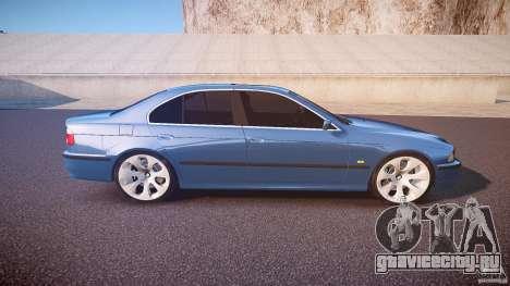 BMW 530I E39 e63 white wheels для GTA 4 вид сбоку