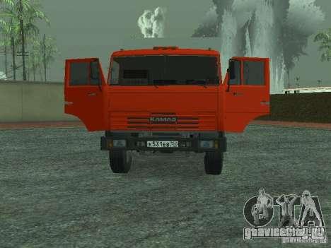 КамАЗ 53215 Мусоровоз для GTA San Andreas вид сзади