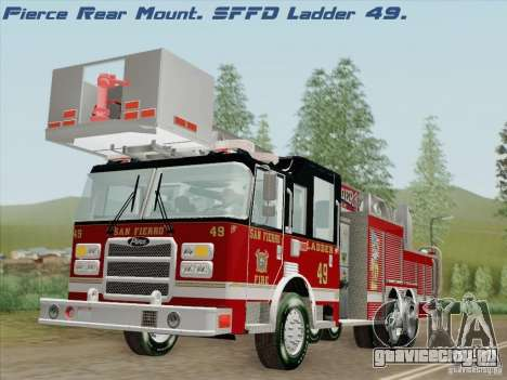 Pierce Rear Mount SFFD Ladder 49 для GTA San Andreas