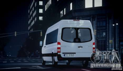 Mercedes-Benz Sprinter Long для GTA 4 вид справа
