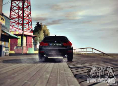 BMW 335i Coupe для GTA 4 вид сзади