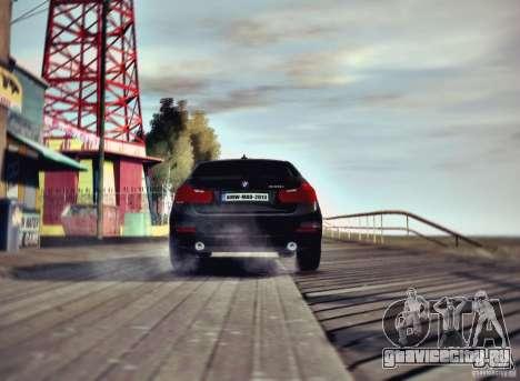 BMW 335i Coupe для GTA 4 вид сзади